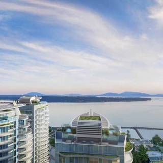 Foster Martin in White Rock provides luxurious living with ocean views.