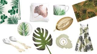 Beautiful Botanicals- tropical leaf print motifs