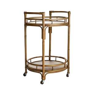 Rattan bar cart. $100. homesense.ca
