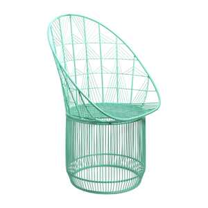 Outdoor powder coated metal chair. $150. homesense.ca