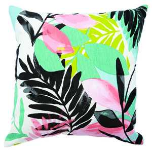Tropical print outdoor pillow. $34. indigo.ca
