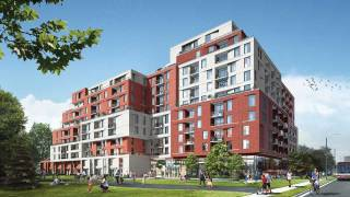 Parkyard living indoors at The Keeley in Downsview