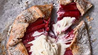 Rhubarb & Raspberry Jam Galette