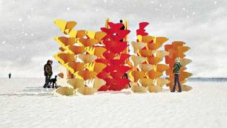 Winter Stations beckon Torontonians to visit the Beach