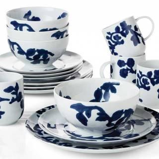 Indigo vine 16-piece dinnerware set. $331. Crateandbarrel.ca