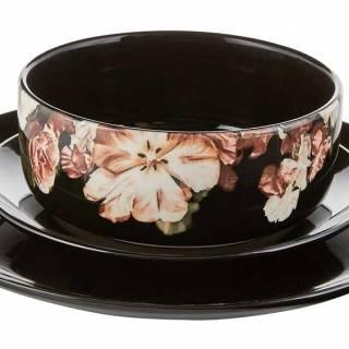 Daphne black floral soup bowl. $13 each. Cb2.ca