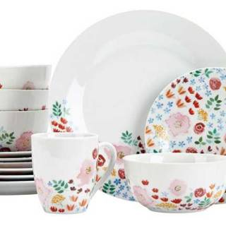 Meadow 16-piece dinnerware set by Canvas. $120. Canadiantire.ca