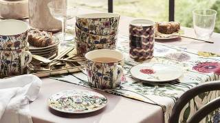 Update your dinnerware with floral motifs