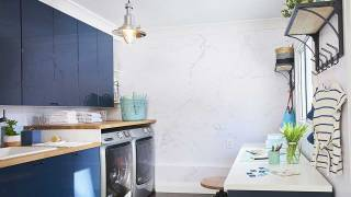 Laundry room re-do creates beautiful, functional space