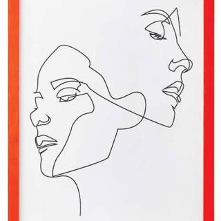 Neon orange framed sketch. $40. Homesense.ca