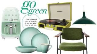 Go green with fab home decor accents and accessories