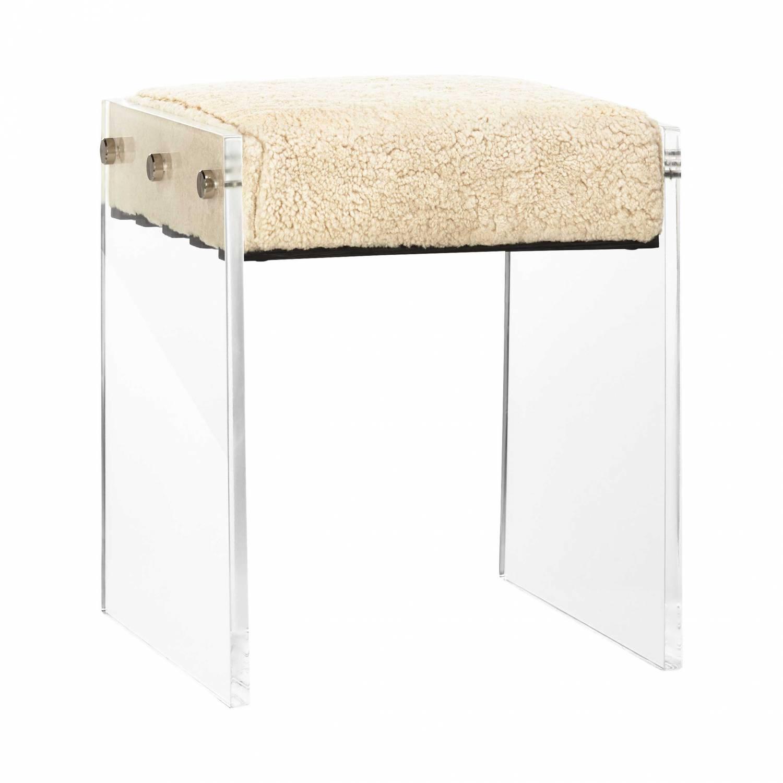Acrylic shearling stool. $800. Cb2.ca