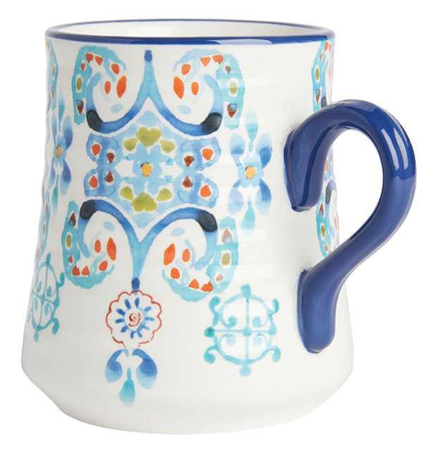 Printed earthenware mug by Anthropologie. $18. Thebay.com