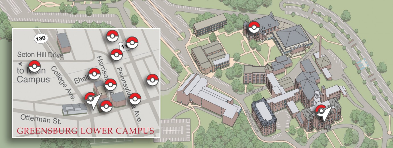 Pokemon Go Catch Em All At Seton Hill News Seton Hill University
