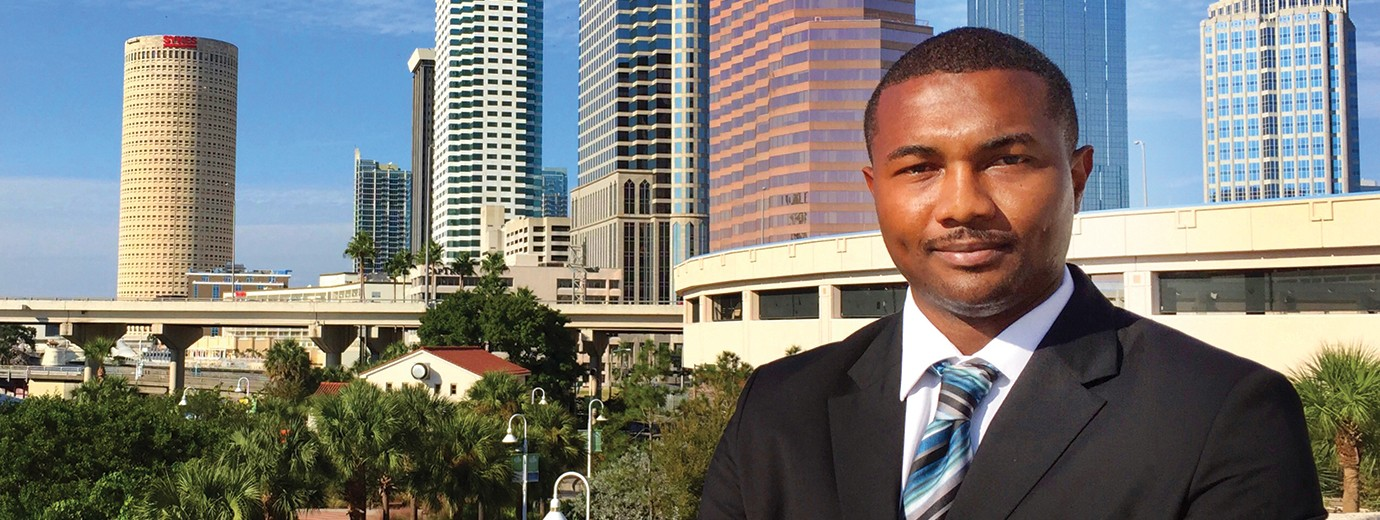 Kadeem Blanchard '12 Loves His Work as a Political Accountant