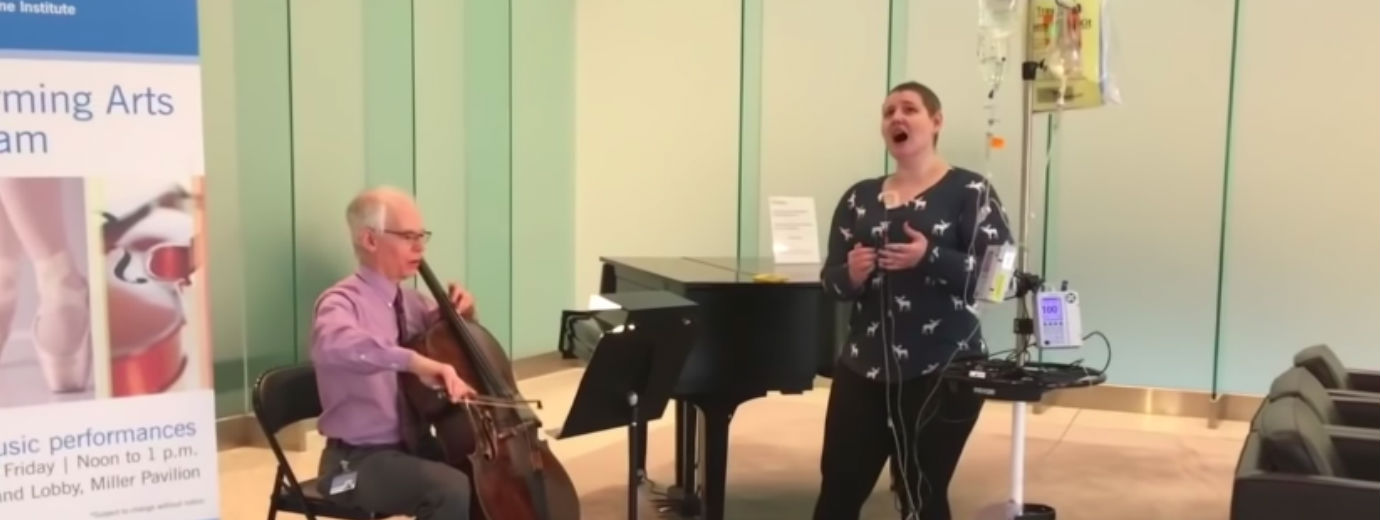 Seton Hill Student Battling Cancer Amazes with Impromptu Cleveland Clinic Concert