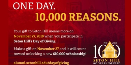 Unlock a Scholarship for Seton Hill Students on Day of Giving November 27