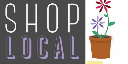 "Seton Hill Graphic Design Major Designs Window Decals for Greensburg ""Shop Local"" Campaign"