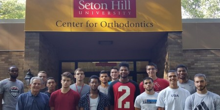 Orthodontic Residents Team Up with Seton Hill Men's Basketball