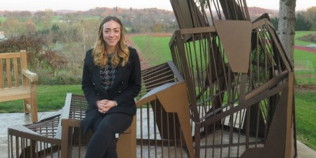 Art Student Creates Memorial Sculpture for Greensburg Philanthropist