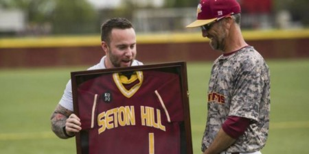 Seton Hill Baseball Team Honors Veterans, Students in the Military