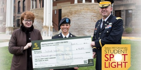 Health Science Major (& EMT) Wendi Walsh Receives Full Scholarship from Army ROTC