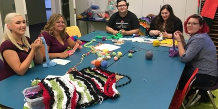 Yarn Bomb Greensburg Project Knits Together Faculty, Students, Alumni & Local Community