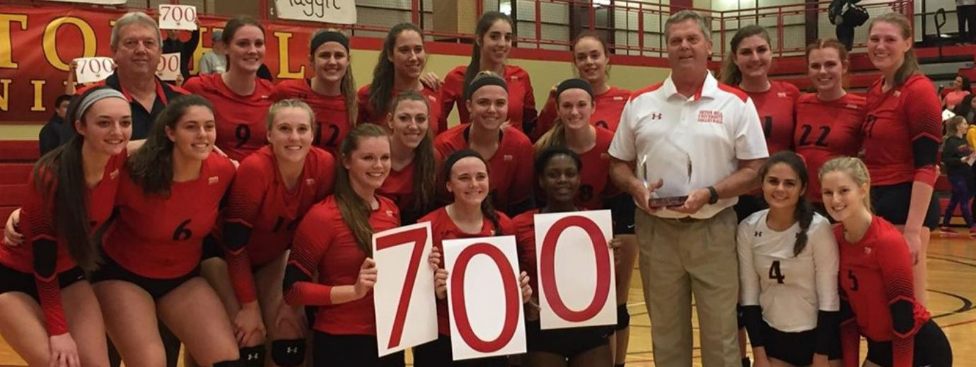 Volleyball Coach Rick Hall Reaches 700th Victory