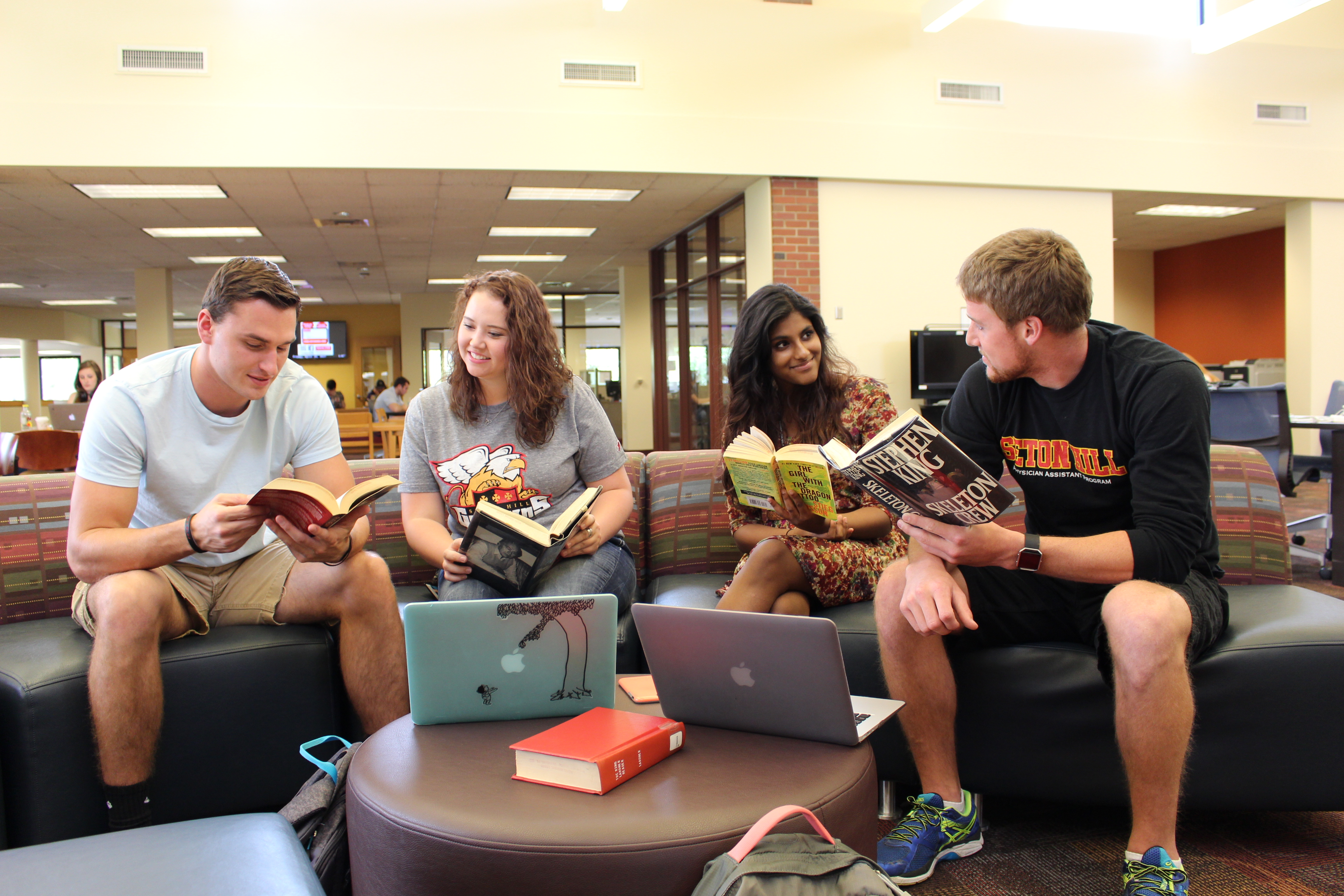 Seton Hill students in Reeves Learning Commons