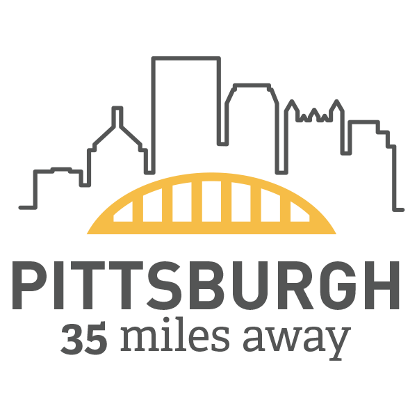 Pittsburgh is 35 Miles Away