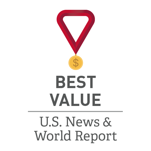 Named a Best Value school by U.S. World Report