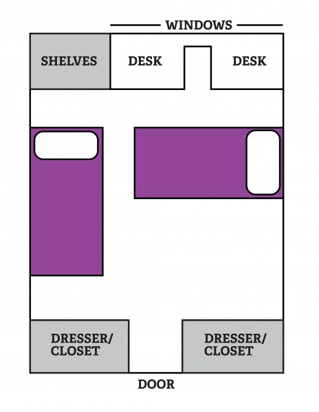 Brownlee Hall Dorm Room Floor Plan Map
