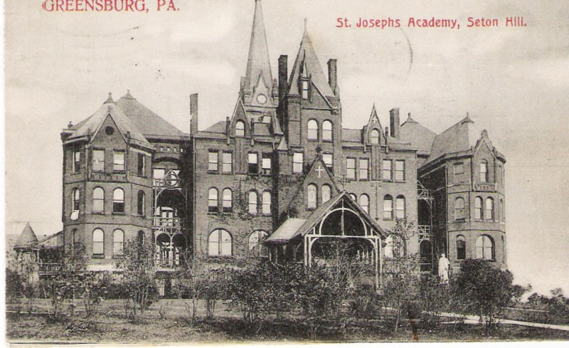 The Seton Hill Administration building in 1889