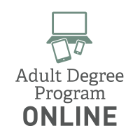 Adult Degree Program Online Graphic
