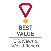 U.S. News Seton Hill Best Value Graphic