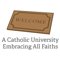 Welcoming Catholic University Graphic