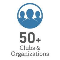 50+ Clubs and Organizations Graphic