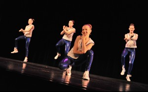 Dancers from the SHU Dance Academy Hip Hop class perform in a recital