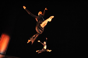 SHU Dance Academy dancer performs a leap
