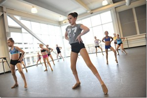 dancers participate in a weekly dance class at SHU Dance Academy