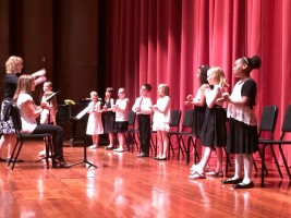 Noteworthy's young singers perform a concert for friends and family