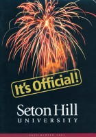 Forward Alumni Magazine announcing Seton Hill University status