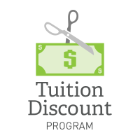Tuition Discount Program graphic