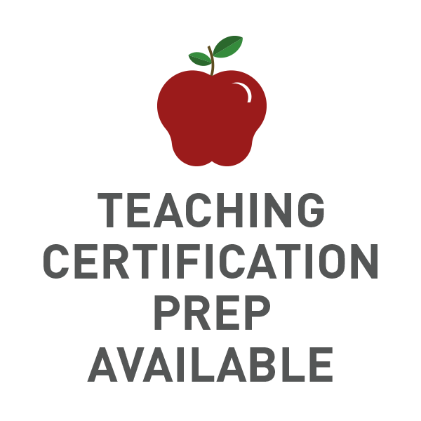 Teaching Certification Prep Available