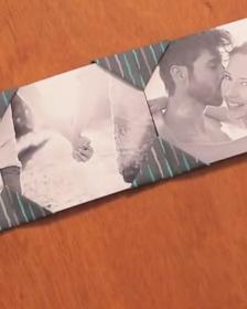 Origami em tecido dá vida a um lindo porta-retrato