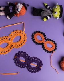 Aprenda o passo a passo para fazer uma máscara de crochê para o Halloween