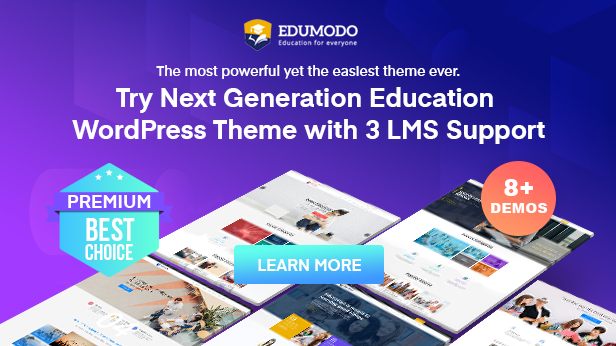 Most advanced education WordPress theme