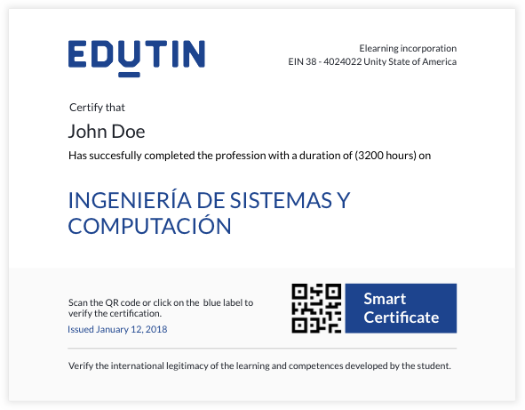 certificado digital de Edutin
