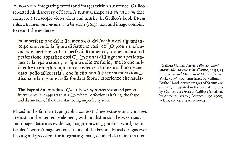 Tufte sparklines Galileo