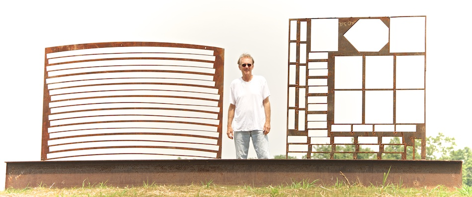 sculpture Edward Tufte Iron Wall